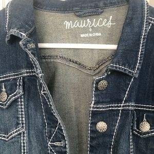 Maurices cropped Jean Jacket size 0